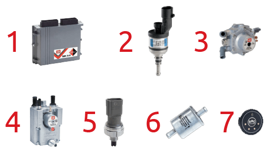 BRC SDI LPG Direct Injection 2.0 Εξαρτήματα